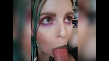 Hot Summer's Day Blowjob - ring gag, ice cubes! Compilation