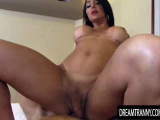 Heavenly Trans Beauty Jessy Lemos Bounces Her Big Booty on Lucky BFs Dick
