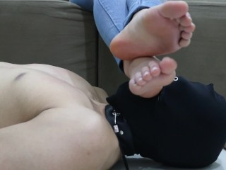 Goddess JMACC Three ways to rest my feet mouth First Place