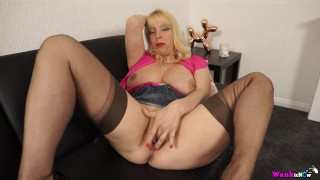 Dads Out And Step Mom Wants Her Sons Big Cock Real Bad So Fingers Herself