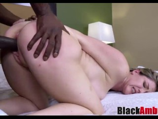 Twilight Sky Terrace Fucking, Busty blonde MILF In lingerie ravaged by BBC and facialized Big Dick B