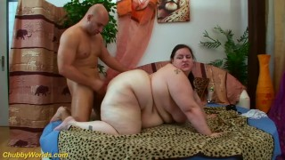 extreme fat girl gets big cock banged
