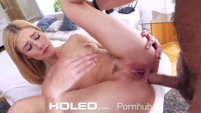 HOLED Tight Blonde Asshole Pumped Full of Big Dick