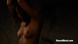 Betrayed Cargo: Busty Young Lesbian Slave In Chains Whipped Hard