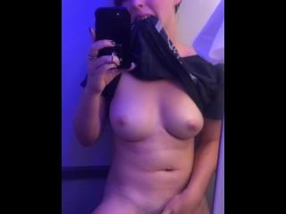 Horny Slut Masturbates in Airport Bathroom and on Plane (24 Aug 2019)