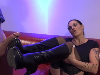 Sleep Assault Anal Footjob With Leather Boots And Monster Cumshot, Big Tits Cumshot Hardcore Milf