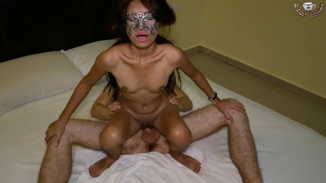 Acup asian Tiny thai riding a dick creampie after masturbate her tight pussy by acup