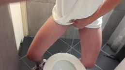 Tits play rub my clit and pee standing