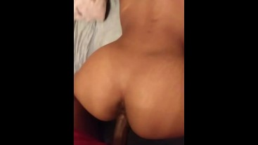 Hot Petite Ebony throw that slim thick ass back on big dick The Reds