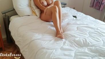 Stepsister caught masturbating