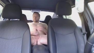 Wanking in the Car