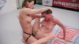 Sofia Marie dominated and strapon fucked by Ariel X in lesbian wrestling