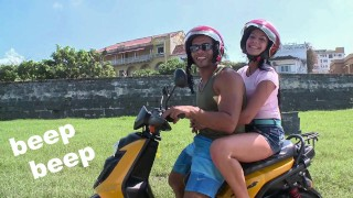 CULIONEROS – We Find Latin Babe Juliana On A Scooter And Bring Her Home