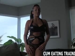 Cum Eating Iuction And POV Femdom Porn