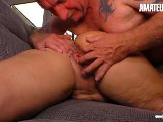 AmateurEuro - Rough SEX On the Couch With Busty Mature German Wife (26 Aug 2019)