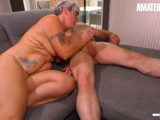 AmateurEuro – Rough SEX On the Couch With Busty Mature German Wife