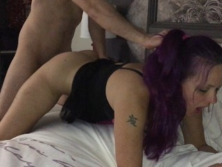 WIFE FUCKS MONSTER COCK GETS CREAMPIE FACIAL HUBBY WATCHES Highli