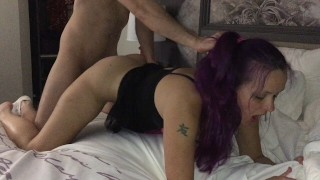 WIFE FUCKS MONSTER COCK & GETS CREAMPIE & FACIAL & HUBBY WATCHES Highlights