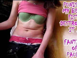 demolishing my stepcousins belly belly punch intense Fantasy of Paula