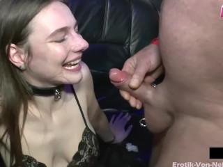 Sperma aus der Muschi lecken beim Swinger Sex mit Mira Cuckold