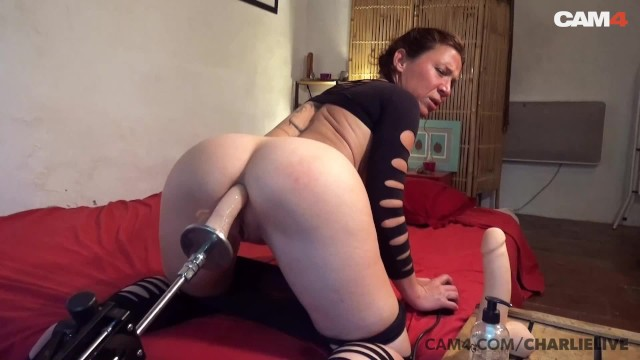 French MILF Fucked in the Ass By Fuck Machine | CAM4