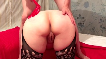 TEEN Slut Slave with BIG ASS takes Big Cock. Orgasm & Moans Homemade Girls