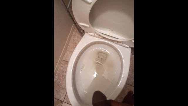 Male public pissing - Amateur guy pissing in the toilet man pee