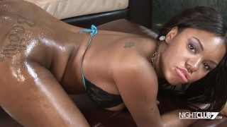 Big dick dude loves to drill the tight wet shaved pussy on hot black