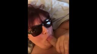 Slutty big tit wife sucks on hubbys dick