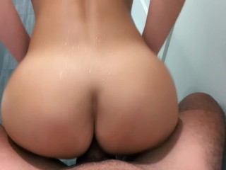 HOT School Teacher gets fucked by her student in the shower