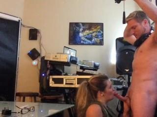 EDM TrapMusic girl sucks of the DJ