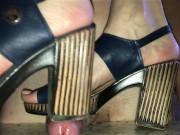 Blue Heels Cock Trample (Part 1) FootRelaxxx