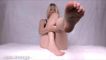 Toe Pointing Foot Worship JOI - foot domination wrinkled soles foot fetish