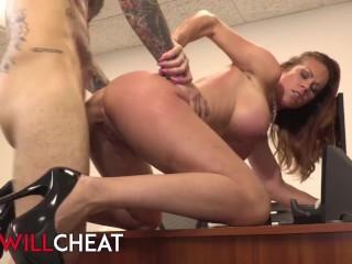SheWillcheat - Ginger milf Sabrina Cyns cheats with inked intern