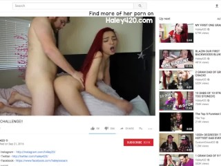 YouTuber Haley420 Accidentally Uploads Video Of Her Fucking (29 Aug 2019)