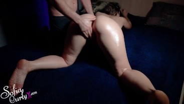 MILF Massage and Fingering Oil Pussy Closeup