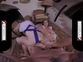 VRCosplayX XXX Cosplay THREESOME Compilation In POV Virtual Reality Part 2