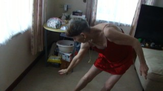 Sexy Dance With Incense...Watch Me Playing With It...Red Lingerie...
