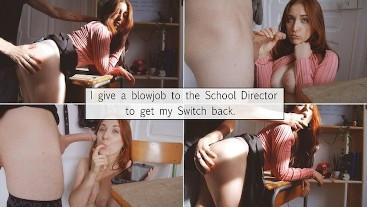 I give the teacher a Blowjob to get my Nintendo Switch back.
