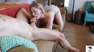 TEASER BLOWJOB and CUMSHOT with RILEY REYES ;-) Facial, big ass ,hot blonde