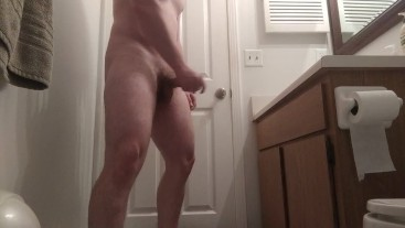 Jerking my fat COCK for a thick CUMSHOT