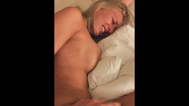 Perfect blonde fucked and cum on her fit belly