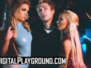 Digital Playground - Kenzie Reeves& Giselle Palmer share dude in the shower