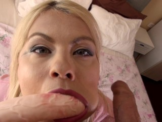 Double suck and loads of cum in mouth