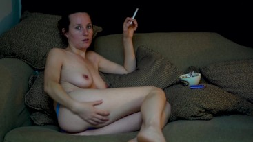 Relaxed Nude Smoking