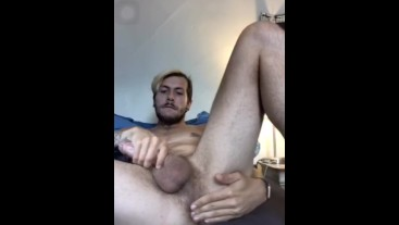 Twink Fingering Ass and Blowing Load