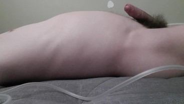 Laying Down And Inflating My Belly With Air
