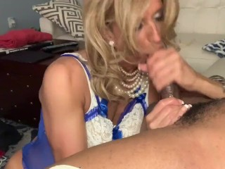 Glamgurlxoxo: CD swallows every drop from BBC after messy deepthroat