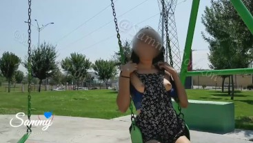 Nude in public by hot mexican teen Sammy corazon REAL exhibitionism