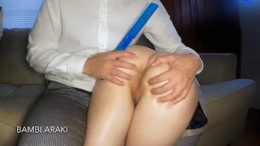 BackToSchool2019 - Teen Schoolgirl Bambi Araki Gets Spanked By Hung Teacher